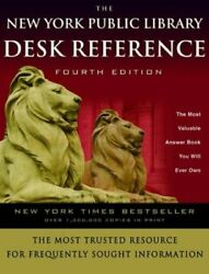 NEW The New York Public Library Desk Reference by Paul Fargis