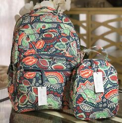 Vera Bradley Nomadic Floral Large Campus Essential Backpack & Lunch Bunch - NWT