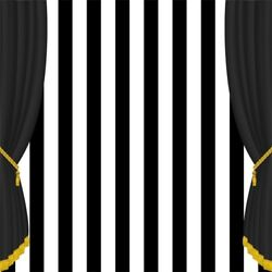 Seamless 10x10ft Black Stripes Curtain Photography Backgrounds Photo Backdrops