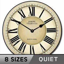 Waterford Wall Clock, Large Wall Clock, Ultra Quiet, 8 Sizes, Life Warranty
