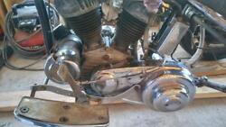HARLEY SERVI CAR  45 FLATHEAD ENGINE TRANS CLUTCHINNER AND OUTER PRIMARY COVER