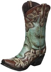 Cowgirl Boot Vase Turquoise Cowboy Western Decor Home Wedding Gift Rustic New
