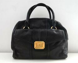 Authentic JUICY COUTURE Black Leather Monaco Satchel Hobo Tote Bag Nordstrom New