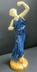 Antique Royal Worcester Figure And039dancerand039 By James Hadley 1904