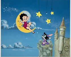 Andldquomoonstruckandrdquo Limited Edition Betty Boop Signed By Shamus Culhane And S. Martin