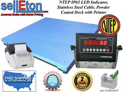 Ntep Legal 60 X 84 Floor Scale Industrial Warehouse And Printer 10000 X 2 Lb