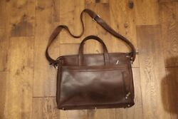 Brown leather messenger bag. Men#x27;s crossbody 13#x27;#x27; laptop and business bag. $170.00