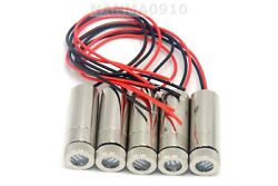5x Focusable 50mw 650nm Dot Line Red Laser Diode Module W Driver 12x35mm
