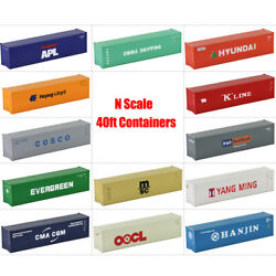 1pc/2pcs/10pcs N Scale 1160 40ft Shipping Container Model Cargo Box
