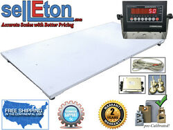 New 5and039 X 8and039 / 60 X 96 Industrial Floor Scale And Led Or Lcd Display 10k X 1lb