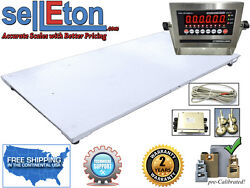 New 5and039 X 8and039 / 60 X 96 Industrial Floor Scale And Led Or Lcd Display 10k X 1 Lb