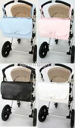 Spanish Smooth Front Bow Detail Changing Bag Nappy Bag