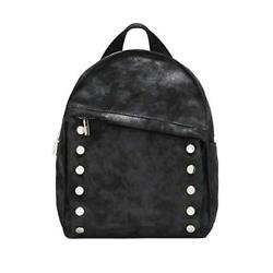 Hammitt Women's Shane Large Backpack Space Buffed Black with Silver Accents