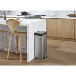 Hinge Design 20941-ST 8-Gallon Loft Stainless Step Trash Can Stainless Steel
