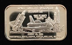 Space Shuttle Discovery Mission Xii 999 Silver Art Bar 1 Troy Oz Sm-25