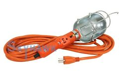 25-ft Heavy Duty Incandescent Trouble Work Light W/ Hook And Extra Socket