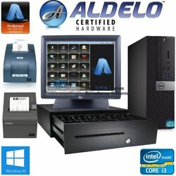 Aldelo Pos Complete Bar Dine In Restaurant Pos System New I3/4gb Free Support I3