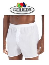 Fruit of the Loom White Boxer Shorts in Famous Brand Packaging 3 Pk