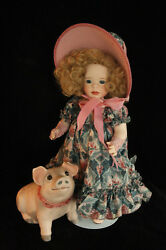 Wendy Lawton To Market, To Market Le Mib Porcelain Doll All Original And Pig