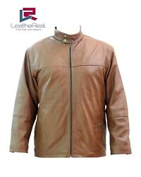 Leather Real Sheep Fashion Jacket With Extra Buckle Grip