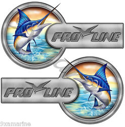 Two Pro Line Laminated Custom Stickers - 16x9 Each. Port Side And Star Board Set