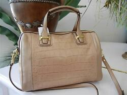 NWT COACH TAYLOR EXOTIC IRIDESCENCE SAND LEATHER CROSSBODY SATCHEL BAG $598 RARE