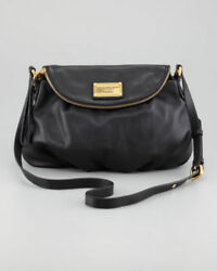 NWT Marc by Marc Jacobs BLACK Classic Q NATASHA Leather Crossbody Bag $380+ AUTH