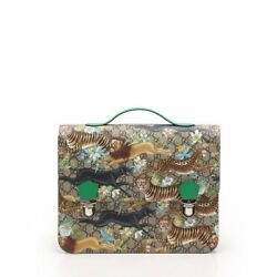 HTF ! Authentic GUCCI Backpack GG Animal Print Multi Color PVC Leather Kids Line