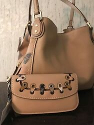 COACH 24966 Edie 31 Patchwork Tea Rose and Snakeskin Leather Bag