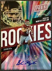 2018 Panini National The Rookies Baker Mayfield Rookie Auto -true 1/1 One Of One