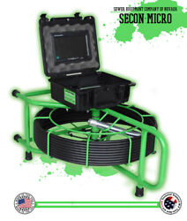 125' Secon-micro Usa Sewer Camera Pipe Drain Inspection 512hz Sonde Wifi Viewing