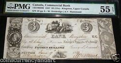 Commercial Bankcanada 3 1859 Pmg 55 - Highest Pmg Grade Of Only 2 Ever Graded