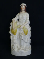 Antique Early 19c. Staffordshire Staffordshire Pottery Figure Of And039ruthand039 14.75