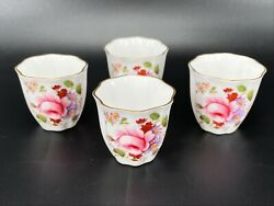 Royal Crown Derby Posies Egg Cups Set Of 4 England Bone China