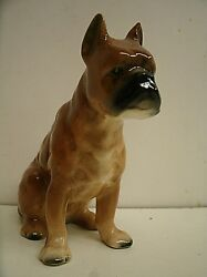 Vintage Porcelain or Ceramic Bulldog Boxer Figurine Made in Japan 3.75