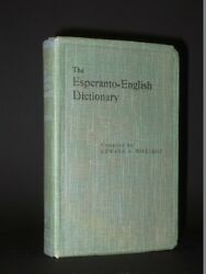 The Esperanto-English Dictionary EDWARD A. MILLIDGE 1922 4th Edition Language