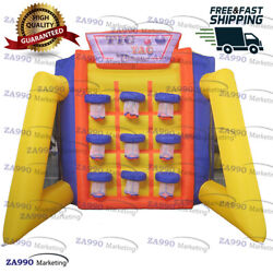 16x10ft Inflatable Tic Tac Basketball Carnival Tossing Game With Air Blower