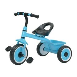 Munchkin Kids Tricycle With Rear Toy Storage 10 Inch Wheels Sunlite Blue Bike