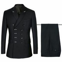 Menand039s Black Suit Jacket New Formal Attire Casual Outfit Long Sleeve Dress Slim