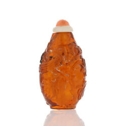 Snuff Bottle - Hand Carved Baltic Amber Box 882187
