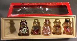 Vintage Old World Christmas Light Covers Set Of 5