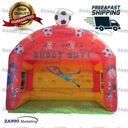 16x10ft Commercial Inflatable Soccer Kick Toss Kids Football With Air Blower