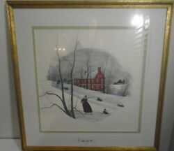 Vintage P. Buckley Moss Signed Dual Signed Print 28 X 28 Number 159 Of 1000