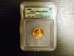 1960 Large Date Pr69 Dcam Lincoln Cent Proof Penny - By Icg Price Guide 2250
