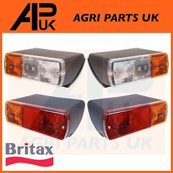 Front Side Light Rear Lamp Set For Ford New Holland 80 Ts90 Ts100 Ts110 Tractor