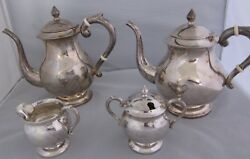 Sterling Silver 925 Coffee And Tea Set 4 Piece Set. Pre-owned But Never Used.