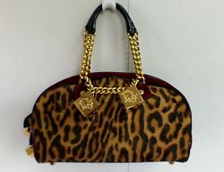 Christian Dior Bag Leopard Print Chains Dice Designer Purse Gambler Galliano