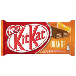 Nestle Kit Kat Orange Chocolate Bar Canadian 2 Fingers x 6 x 10 packs Canadian