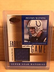 Peyton Manning 2001 Certified Fog Fabric Of The Game Jersey Card Colts