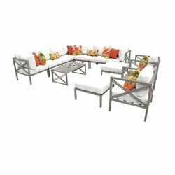 Carlisle 13 Piece Outdoor Aluminum Patio Furniture Set 13a in Sail White